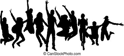 people jumping together