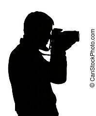Silhouette of photograph.