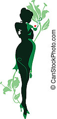 Silhouette of pregnant woman