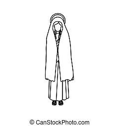 silhouette of saint virgin mary