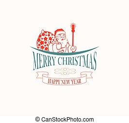 silhouette of Santa Claus
