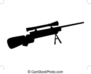 sniper scope rifle vector black isolated on white background vector rh canstockphoto com rifle clip art free sniper rifle clipart