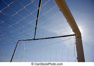 Silhouette of soccer