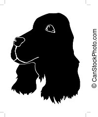 spaniel - silhouette of spaniel