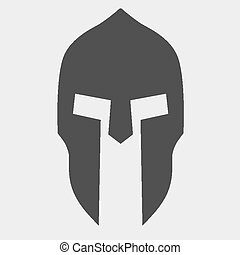 Silhouette of Spartan helmet. Vector Illustration isolated...
