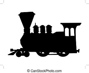 steam train - silhouette of steam train