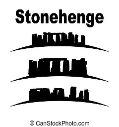 silhouette of stonehenge vector set, great for your design