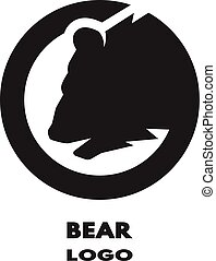 Silhouette of the bear, monochrome logo.
