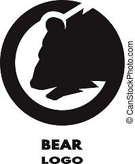 Silhouette of the bear, monochrome logo.