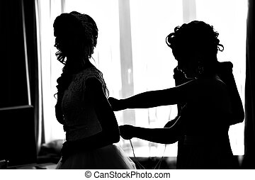 silhouette of the Bride Dresses