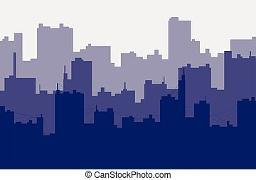 silhouette of the city seamless background