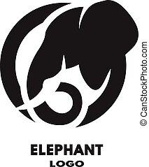 Silhouette of the elephant logo.