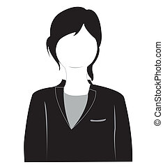 Silhouette of the girl in suit