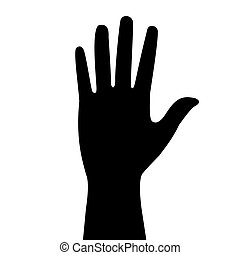 silhouette of the hand