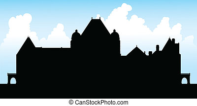 Queen's Park, Toronto - Silhouette of the Legislature...