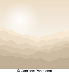 Silhouette of the Mountains at Sunrise - Mountain Landscape...