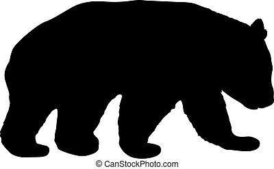 Silhouette of the Panda on a white background