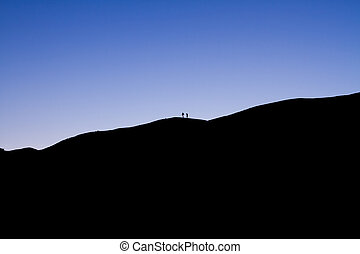 Silhouette of the person