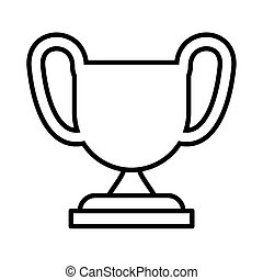 silhouette of trophy on white background