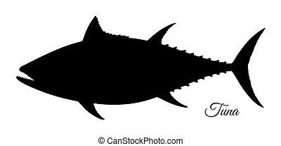 Silhouette of tuna.