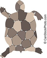 Silhouette of turtle