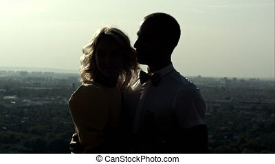 silhouette of two lovers