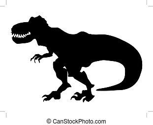tyrannosaurus - silhouette of tyrannosaurus