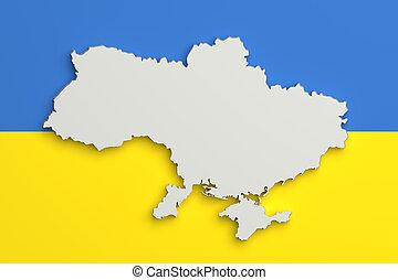 Relief map sumy ukraine 3drendering Relief map of stock