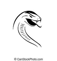 silhouette of venom snake logo design vector graphic design