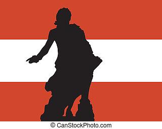 silhouette of Vienna