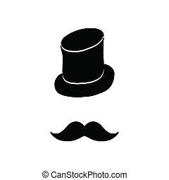 Silhouette of vintage hat and