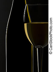 silhouette of wine vector
