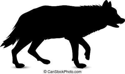 Silhouette of wolf