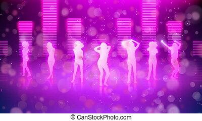 Silhouette of women dancing