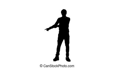 Silhouette Of Young Man Dancing
