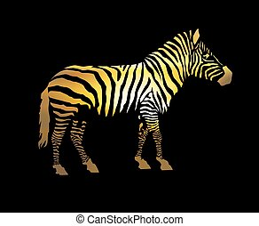 Silhouette of zebra