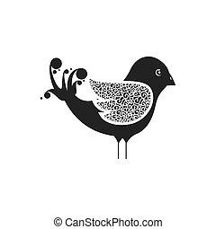 silhouette, oiseau, animal