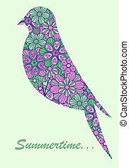 silhouette, oiseau