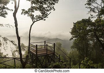 silhouette on Phu Bo-Bit viewpoint