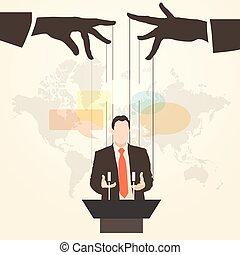 silhouette, orateur, orateur, prise parole public, homme