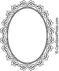 frame - silhouette ornamental frame oval