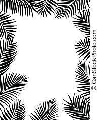 silhouette, palm vel