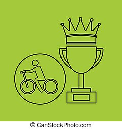 silhouette person cyclist winner sport