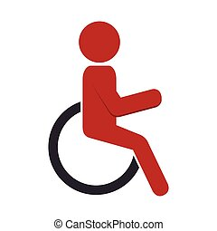 silhouette person in wheelchair