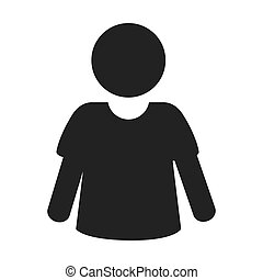 silhouette person isolated