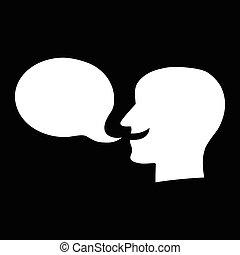 Talking Speech Balloon - Silhouette Person Talking Speech ...