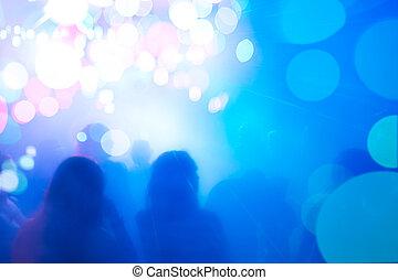 silhouette, persone, atmosphere., festivo