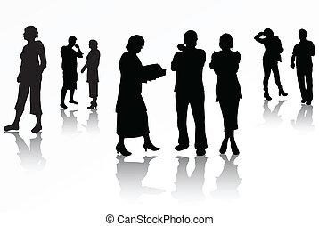 silhouette, persone