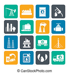 Petrol and oil industry icons