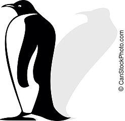 silhouette, pinguino